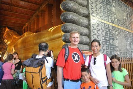 bangkok reclining buddha family